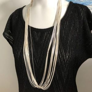 Christmas Gift! Multi-strand Silver Necklace